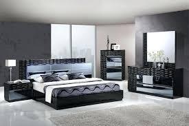 black modern platform bed. Modern Platform Bedroom Sets With Lights Black Glossy Unique Set Led Headboard . Bed