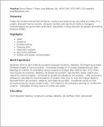 Resume Templates: Project Accountant