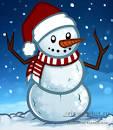 Нарисовать красивого снеговика поэтапно