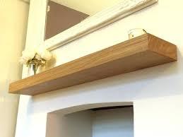 fireplace mantel floating shelf oak shelves home tiles design fashionable new 2