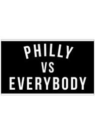 Flyers Flag Philadelphia Vs Everybody Black Silk Screen Grommet Flag