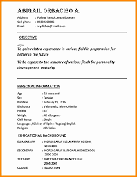 50 Awesome Curriculum Vitae Tagalog Exemple Resume Curriculum