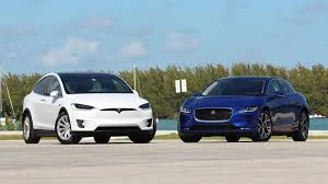 2019 Jaguar I Pace Vs 2018 Tesla Model X Comparison Cat Nipped