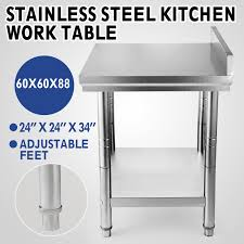 24 X 24 Stainless Steel Kitchen Work Table Commercial Kitchen