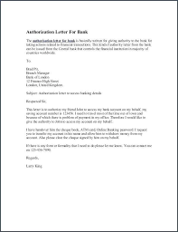 Bank Authorization Letter Sample Claim To Process Documents For