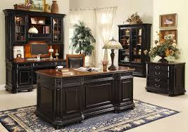 classy home furniture. Office:Classy Home Office Interior Decor Idea With Black Wooden Furniture Sets And White Classy O