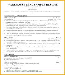 Warehouse Job Description Resume Sample Warehouse Job Description