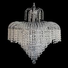 waterfall 660mm crystal chrome pendant light lighting empire chandeliers