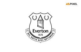 Three new crests were presented before a public vote, and the current crest came out as an overwhelming winner. Everton Logo Vector Eps Free Download Azpixel Net Line