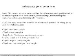 Porter Resume Examples Resume Porter