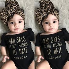Image trendy baby Girl Outfits 2019 Trendy Kids Baby Girls Clothes Off Shoulder Summer Letter Print Short Sleeve Bodysuit Leopard Headband Cotton Casual Set From Newyearable Parenting 2019 Trendy Kids Baby Girls Clothes Off Shoulder Summer Letter Print