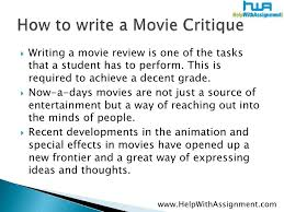 how to write a critique paper on a movie pay someone write my paper how to write a critique paper on a movie