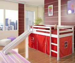 ... Charming Space Saving Shared Bedroom Decoration With Various Ikea White Bunk  Bed : Excellent Red Kid ...