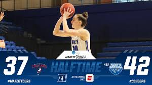 """NCAA Division II on Twitter: """"Behind 10 points from both Amber Skidgel and Julianne  Sutton, No. 23 North Georgia leads by five points at the half in the  #D2Hoops Showcase. See the"""