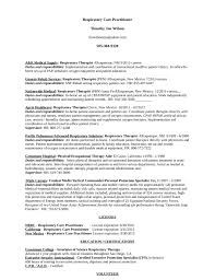 Respiratory Therapist Resume Templates Best Respiratory Therapist Resume  Template Download