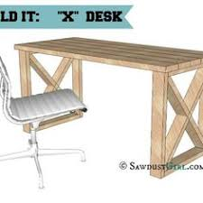 office desk plan.  Office A Reader Suggested I Take My X Leg Bench Design Make An Office Desk WhichI  Thought Was A Great Idea WIth This Plan You Can Build With Very Simple  Inside Office Desk Plan Q