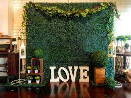 Garden Backdrop With LOVE At Buddy Oriental Riverside