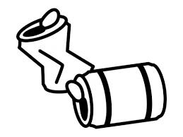 空き缶の白黒イラスト かわいい無料の白黒イラスト モノぽっと