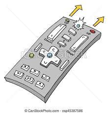 remote control drawing. retro remote control - csp45387586 drawing