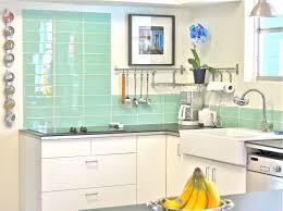 Green Tile Backsplash Kitchen Small Green Kitchen Tiles Quicuacom