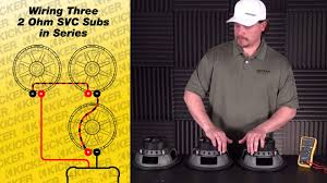 subwoofer wiring three ohm svc subs in series vs parallel subwoofer wiring three 2 ohm svc subs in series vs parallel