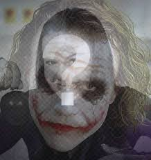filter to put the face of the joker on ur picture