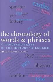 Chronology Words Chronology Of Words And Phrases Flavell Linda Flavell Roger