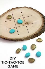 Game With Rocks And Wooden Board DIYTicTacToeGame with Wooden Slice and Rocks FUN STUFF for 10