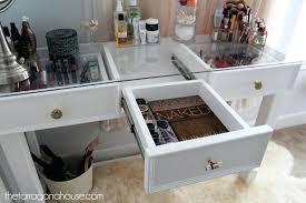glass top for dresser amusing small glass top desk white vanity projects throughout with drawers prepare