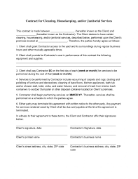 006 Template Ideas Business Contract Pdf Best Of Cleaning