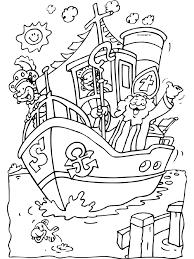 Kleurplaat Stoomboot Sinterklaas Sinterklaas Knutselen