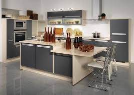 Black White And Grey Kitchen Grey Kitchen Cabinets With White Countertops Built In Ovens Dark