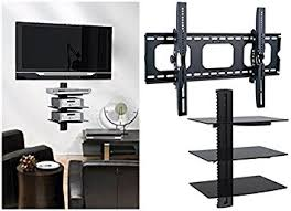 Floating Shelves For Tv Accessories Amazon 100xhome TV Wall Mount with Shelf Up to 100 inches tv 3