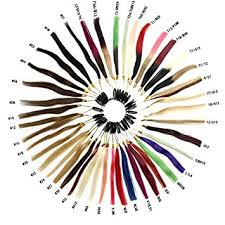 Remy Colour Chart Amazon Com Haibis Remy Human Hair Extensions Color Ring