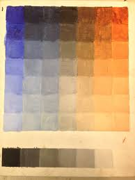Umber Color Chart Color Charts In Oil Tucson Classical Atelier