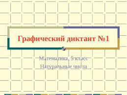 Урок контрольная работа в форме графического диктанта по  Графический диктант №1 Математика 5 класс Натуральные числа