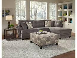 Cordoba Gray 2 PC Sectional American Signature Furniture LOVE