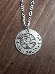 family tree necklace children s name