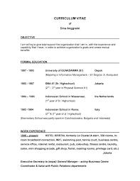 Good Resume Introduction