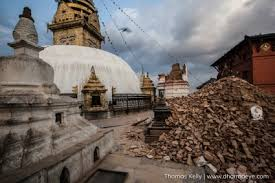 thomas kelly photo essay earthquake aftermath acirc middot dharma eye collapsed tower at swayambhunath budhsit stupa