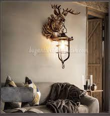 deer head wall lamps lantern reindeer