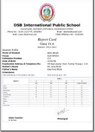 School Report Card Format Cbse Cce Report Card Sample Format