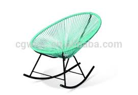 wicker rocking chair. Hot Selling Metal Frame With PE Wicker Chair Rocking