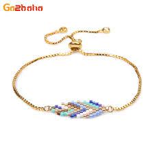 <b>Go2boho</b> Gold <b>Leaf</b> Bracelets Women Girl <b>Miyuki</b> Seed Beads ...
