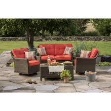 berkley jensen antigua 4 piece wicker patio set outdoor living with