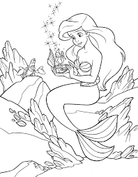 Disney Princess Coloring Pages To Print Ariel With Coloring Page