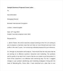 Cover Letter Template Business Sample Business Proposal Cover Letter