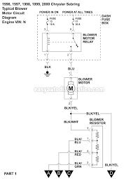 blower motor wiring diagram (1996 2000 2 5l v6 sebring and avenger) dayton blower motor wiring diagram Blower Motor Wiring Diagram #43