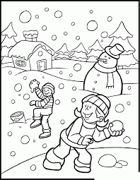 Winter Coloring Pages For Kindergarten#282742
