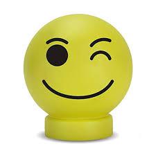Plastic Wink Emoticon Illumi Mate Light Yellow Amazon Co Uk Lighting